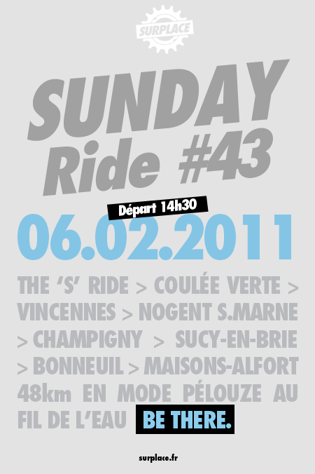 sunday ride #43 flyer