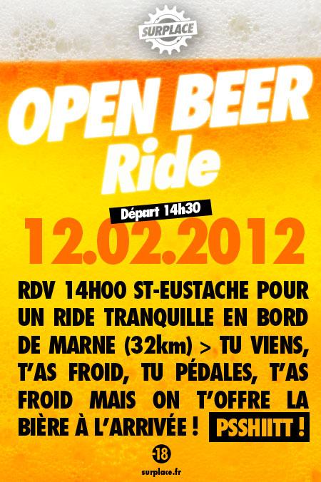 SURPLACE open beer ride